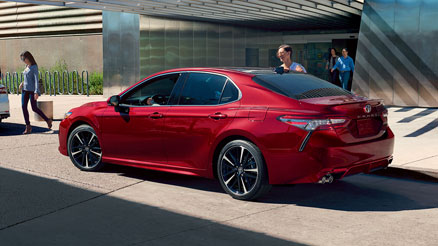 red camry 3/4 rear view