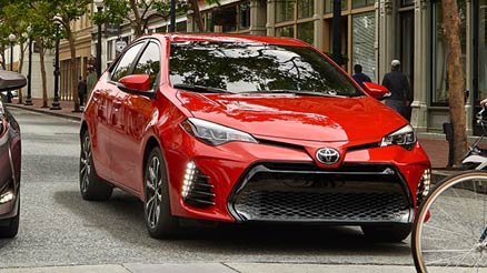 red corolla front view
